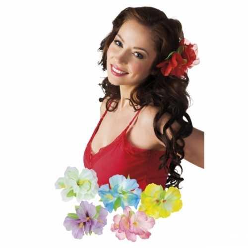 5x stuks hawaii accessoires haarbloemen op clip
