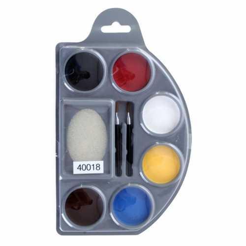 6 kleuren kinderschmink op palet