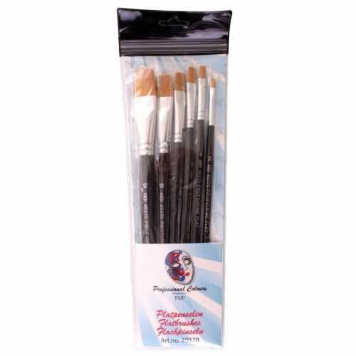 6 platte schmink penselen set synthetisch