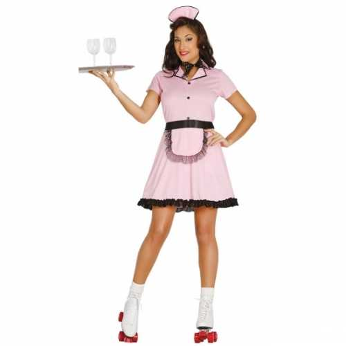 Amerikaanse serveerster verkleedkleding