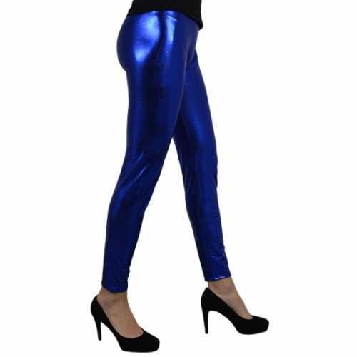 Blauw metallic legging
