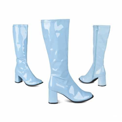 Blauwe retro laarzen dames
