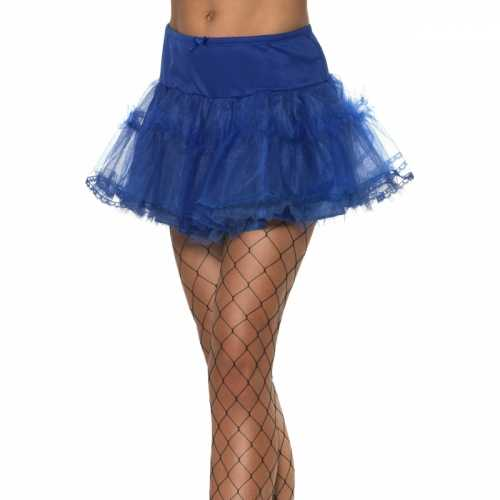Blauwe rock and roll petticoat