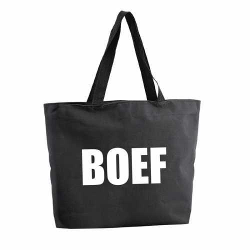 Boef shopper tas zwart 47