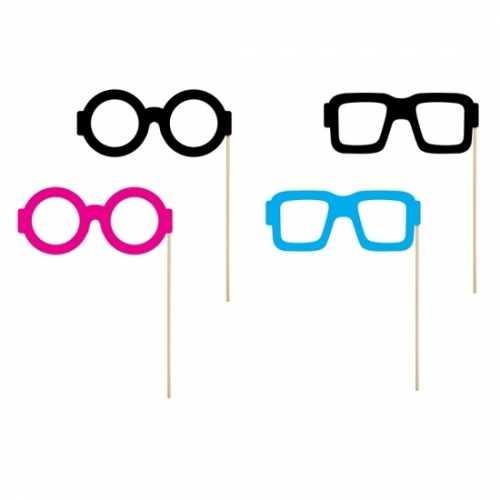 Brillen foto accessoires op stokje