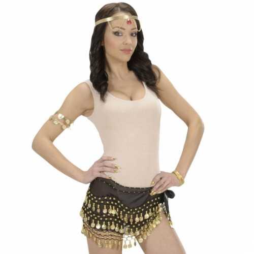 Buikdanseres riem gouden muntjes