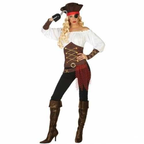 Carnaval piraten verkleedkleding agatha dames
