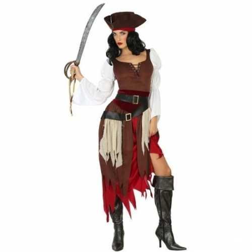 Carnaval piraten verkleedkleding francis dames