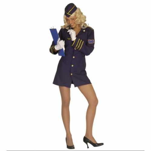 Carnaval Stewardess verkleedkleding dames