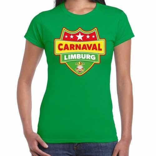 Carnaval verkleed t shirt limburg groen dames