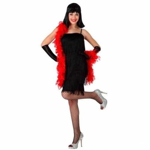 Carnaval verkleedkleding zwart cabaret jurkje dames