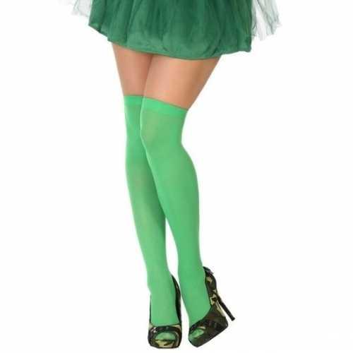 Carnavalaccessoires kousen neon groen dames