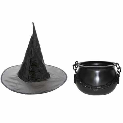 Carnavalskleding heksen accessoires heksenhoed heksenketel 25 dames kinderen