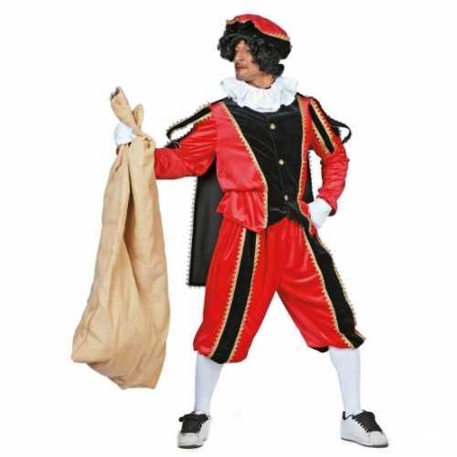Carnavalsverkleedkleding Rood/zwarte pieten verkleedkleding fluweel