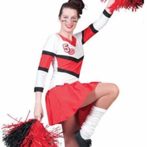 Cheerleader verkleedkleding dames
