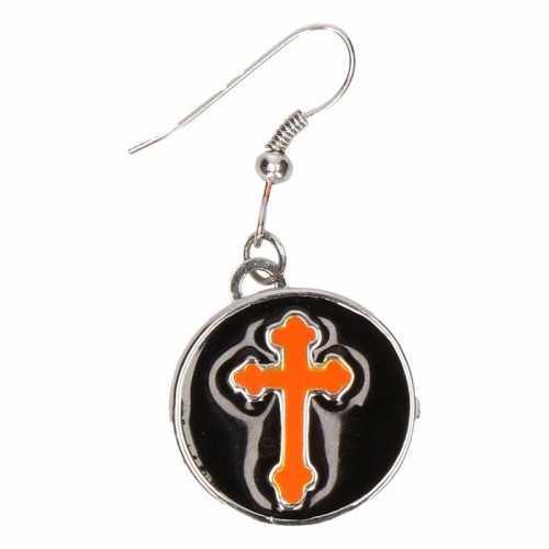 Chunkoorbellen zilveren oranje kruis volwassenen