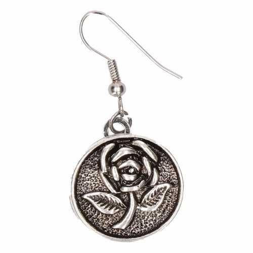 Chunkoorbellen zilveren roos volwassenen