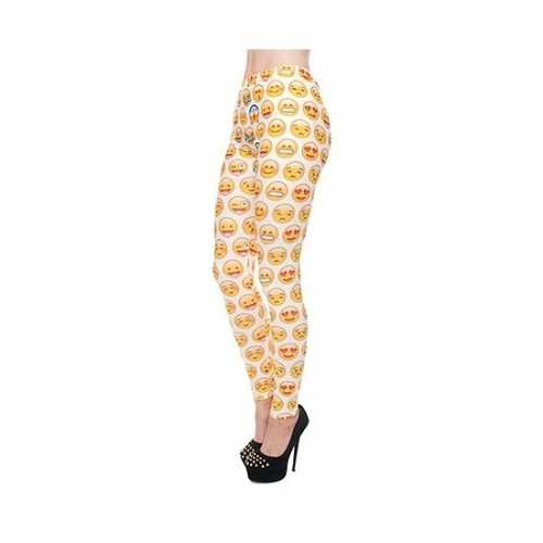 Dames creme kleurige party legging