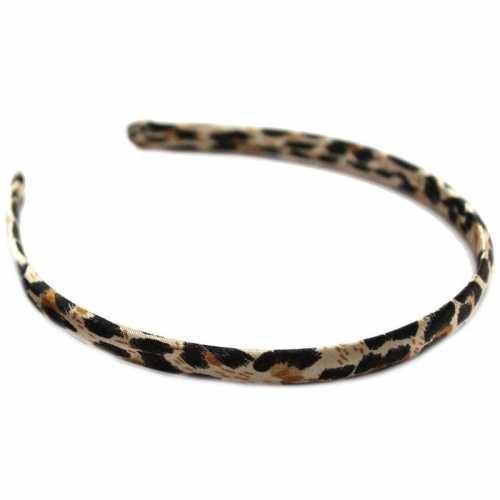 Dames diadeem/haarband bruine panter dierenprint