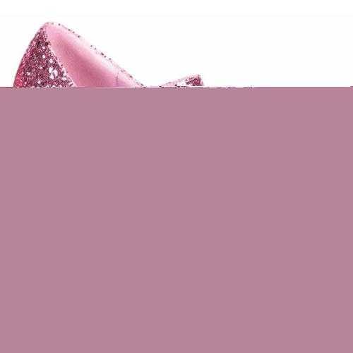 Dames glitter schoen roze