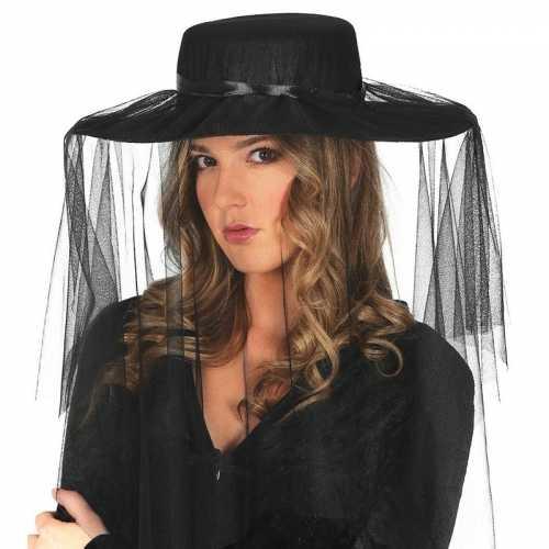 Dames hoeden sluier zwart
