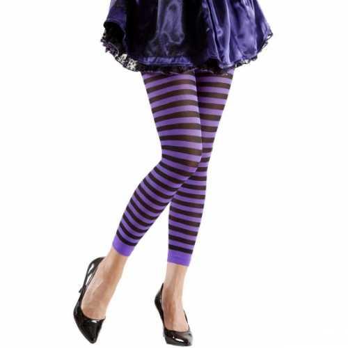 Dames legging paars zwart