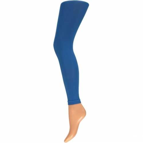 Dames party legging 60 den kobalt blauw