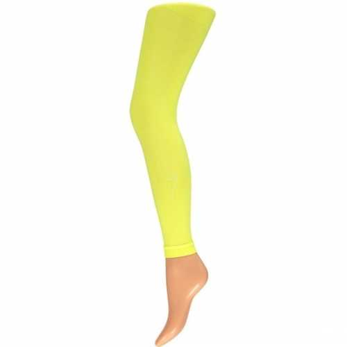 Dames party legging 60 den neon geel