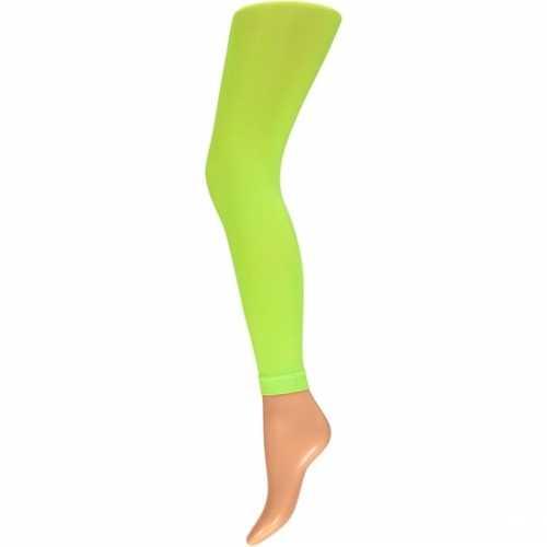 Dames party legging 60 den neon groen