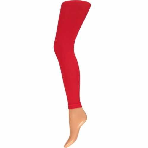 Dames party legging 60 den rood
