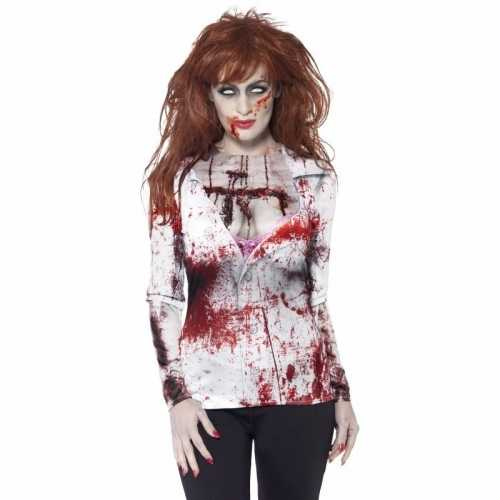 Dames t shirt zombie print