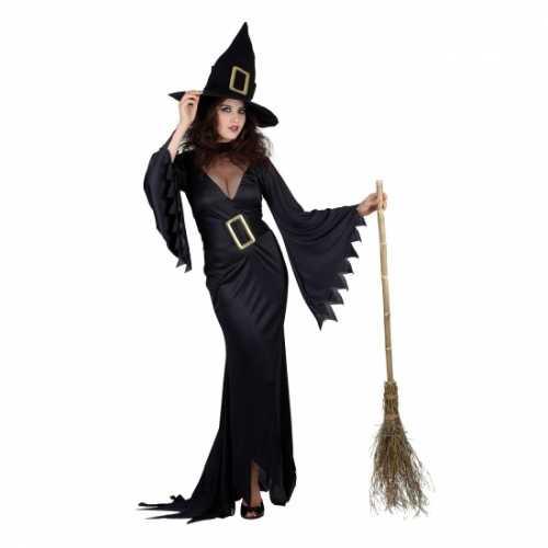 Dames verkleedkleding zwarte heks