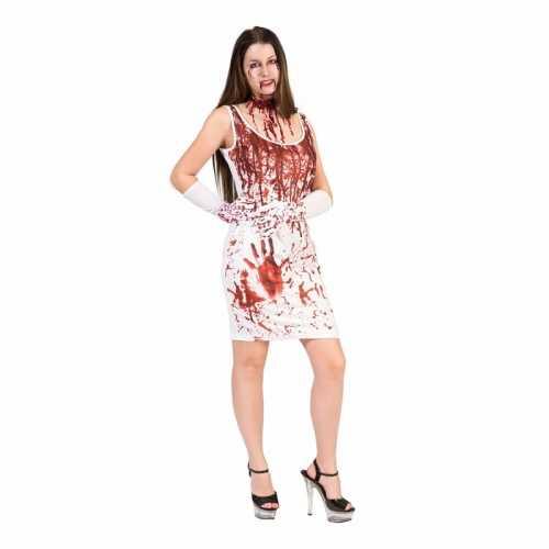 Dames witte jurk bloedspatten