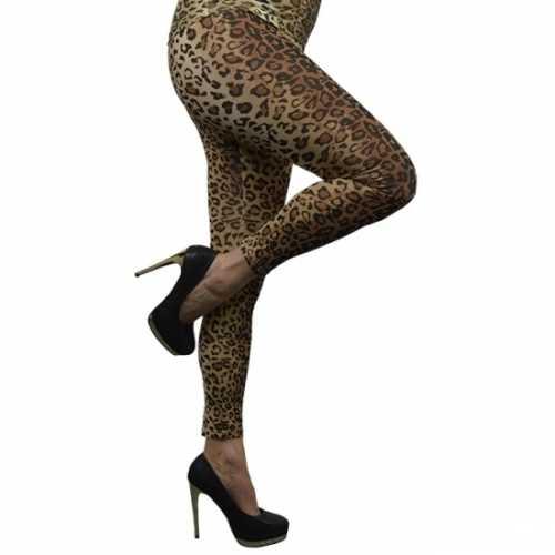 Dameslegging luipaard print