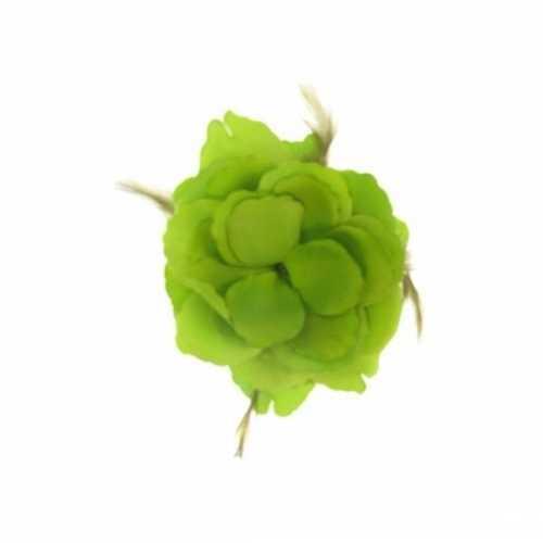 Decoratiebloem elastiek groen 10x10cm