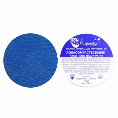 Donker blauwe aqua schmink