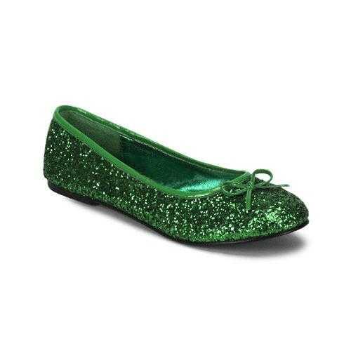 Donker groene ballerina schoenen glitters