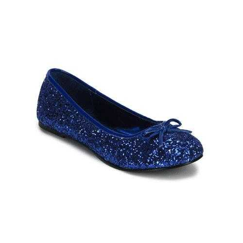 Donkerblauwe ballerina schoenen glitters