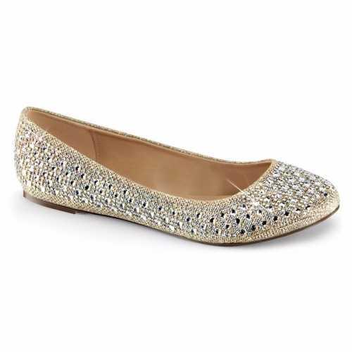 Feest ballerina schoenen goud/glitters dames