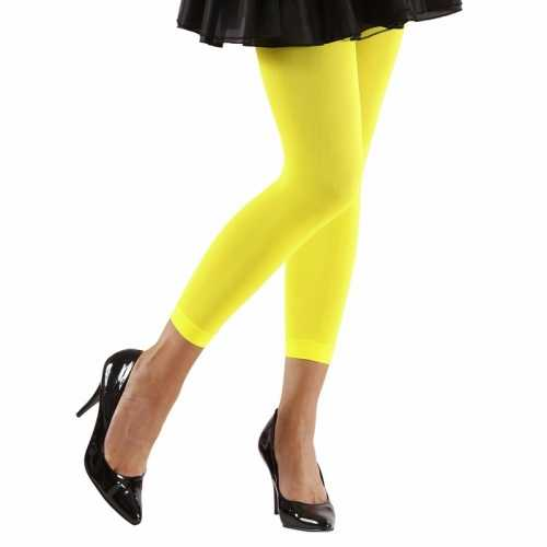 Feest legging neongeel dames