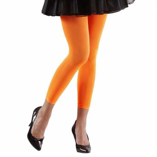 Feest legging neonoranje dames