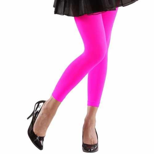 Feest legging neonroze dames