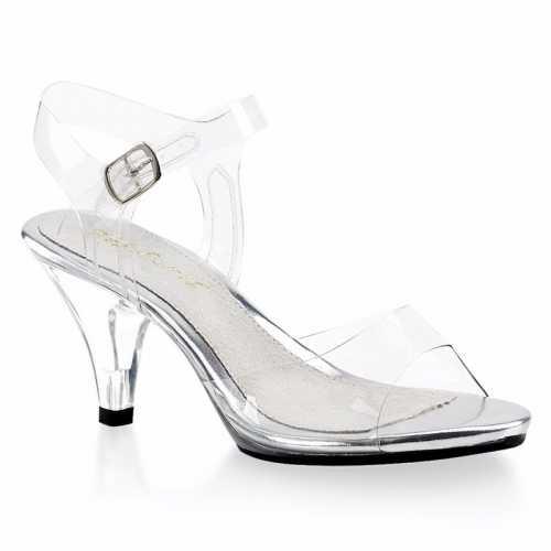 Feest prinsessen hakken/schoenen transparant dames
