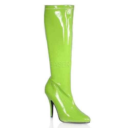 Fel groene gogo laarzen hak