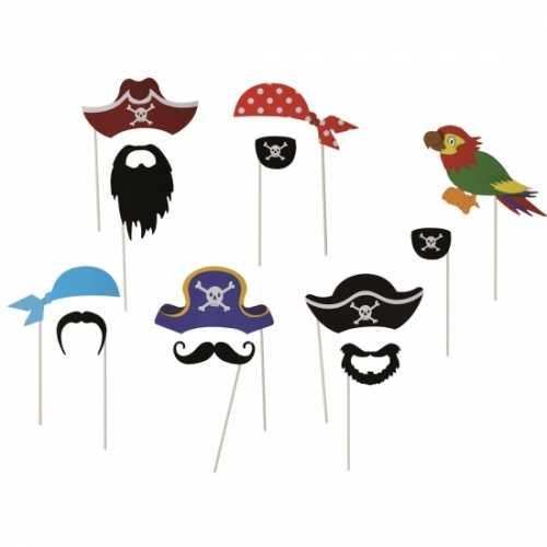Foto accessoires piraat op stokjes