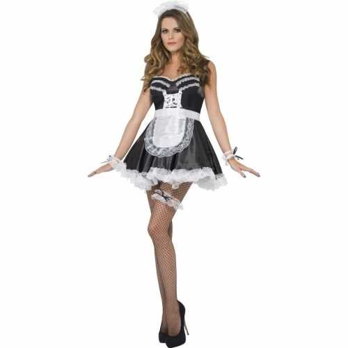 Frans dienstmeisje verkleedset dames