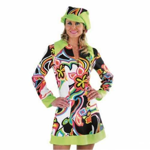 Gekleurd dames verkleedkleding Hippie
