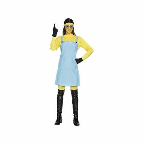 Gele mini dames verkleedkleding
