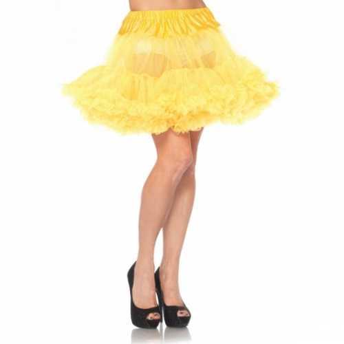 Gele onderrok petticoat luxe