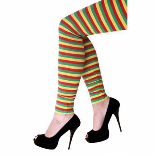 Gestreepte legging dames
